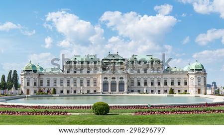 Belvedere Palace in summer , Vienna, Austria - stock photo