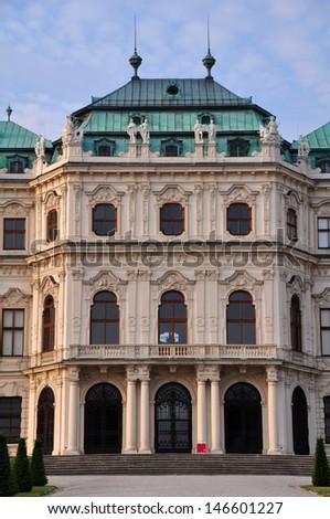 Belvedere Palace in Vienna, Austria.  - stock photo