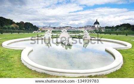 Belvedere Park Wien - stock photo