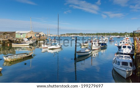 Bembridge St Helens harbour Isle of Wight in the English Channel off the Hampshire coast  - stock photo