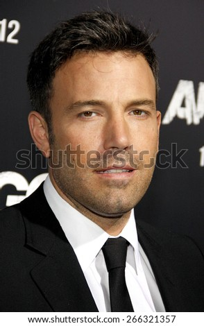 Ben Affleck at the Los Angeles premiere of 'Argo' held at the AMPAS Samuel Goldwyn Theater in Los Angeles on October 4, 2012.  - stock photo