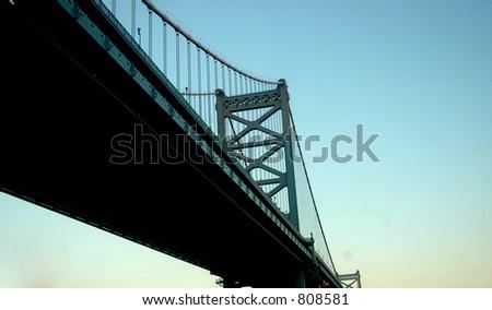 Ben franklin bridge - stock photo