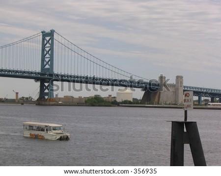 Ben Franklin Bridge, Philadelphia - stock photo