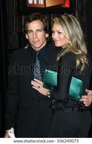 Ben Stiller and Christine Taylor  at VH1's 14th Annual Critic's Choice Awards. Santa Monica Civic Auditorium, Santa Monica, CA. 01-08-09 - stock photo