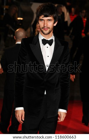 Ben Whishaw arriving for the Royal World Premiere of 'Skyfall' at Royal Albert Hall, London. 23/10/2012 Picture by: Steve Vas - stock photo
