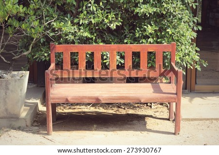 Bench chair in the park - stock photo