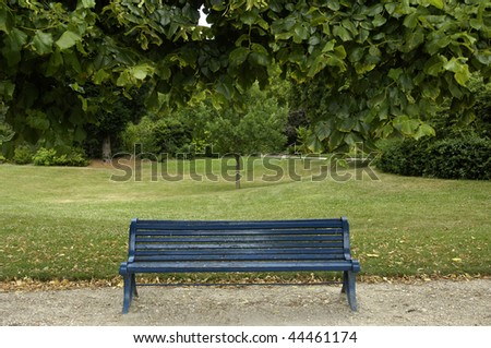 bench in a garden - stock photo
