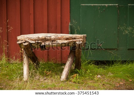 Bench in summertime - stock photo