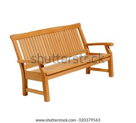Bench Isolated On White Background - stock photo