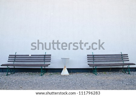 Benches - stock photo