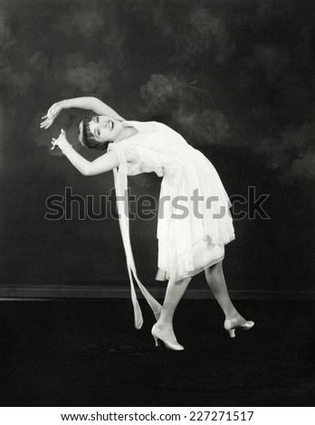 Bending over backwards - stock photo