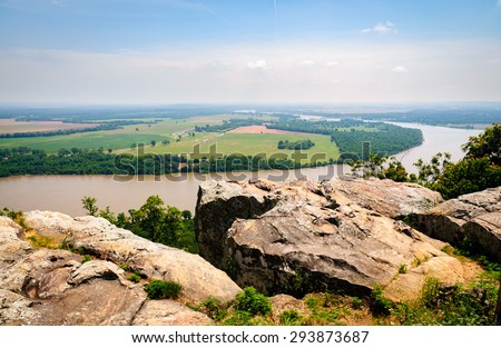 Bending River at Petit Jean State Park - stock photo