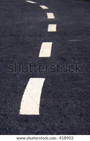 bending road - stock photo