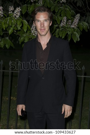 Benedict Cumberbatch arriving for the Serpentine Gallery Summer Party 2012, Hyde Park, London. 26/06/2012 Picture by: Simon Burchell / Featureflash - stock photo