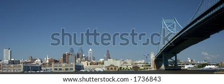 Benn Franklin Bridge, Philadelphia, PA - stock photo