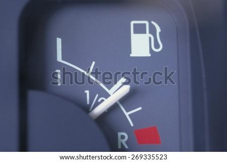 benzine meter car - stock photo