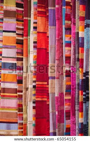 Berber textile colors - stock photo
