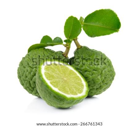 Bergamot fruit on a white background - stock photo