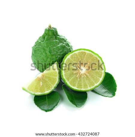 Bergamot isolated on white background. - stock photo