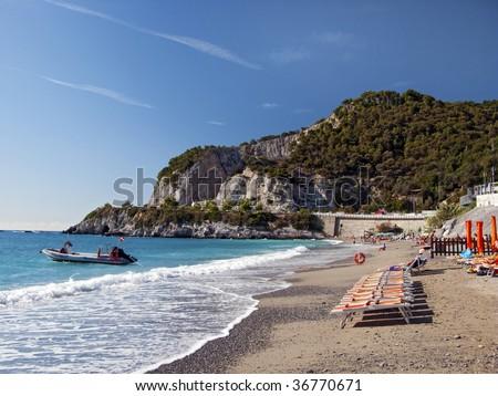Bergeggi Beach - stock photo