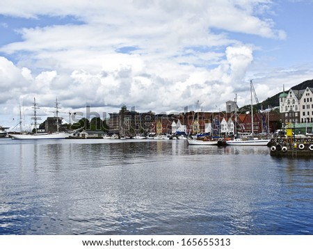 Bergen Seaport, Norway,   - stock photo