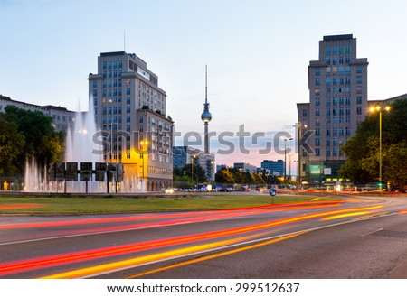 Berlin at night, Germany - stock photo