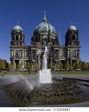 Berlin Cathedral (Berliner Dom), Germany at sunny day with blue sky - stock photo