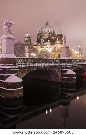 Berlin Cathedral - Evangelical Supreme Parish and Collegiate Church. Berlin, Germany - stock photo