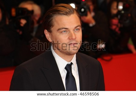 BERLIN - FEBRUARY 13: Actor Leonardo DiCaprio attends 'Shutter Island' Premiere during day three of the 60th Berlin  Film Festival at the Berlinale Palast on February 13, 2010 in Berlin, Germany - stock photo