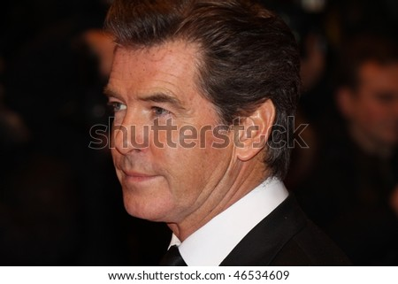 BERLIN - FEBRUARY 12: Actor Pierce Brosnan attends 'The Ghost Writer' Premiere during   day two of the 60th Berlin Film Festival at the Berlinale Palast on February 12, 2010 in Berlin, Germany - stock photo