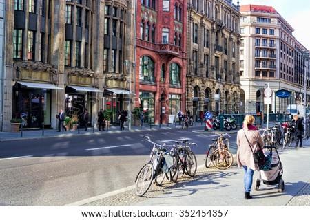 Berlin Friedrichstrasse - stock photo