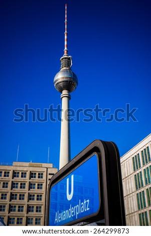 Berlin, Germany. Alexanderplatz - stock photo
