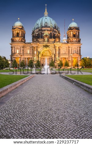 Berlin, Germany at the Berlin Cathedral. - stock photo