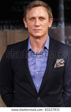 BERLIN, GERMANY - AUGUST 08: Daniel Craig attends the 'Cowboys & Aliens' premiere in Cinestar on August 8, 2011 in Berlin, Germany. - stock photo