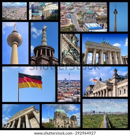 Berlin - Germany capital city travel photos collage. - stock photo