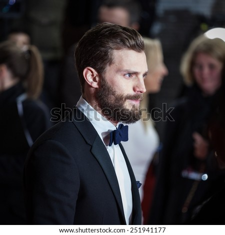 BERLIN, GERMANY - FEBRUARY 11: Actor Jamie Dornan attends the 'Fifty Shades of Grey' premiere during the 65 Berlinale International Film Festival at Zoo Palast on February 11, 2015 in Berlin, Germany. - stock photo