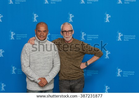 Berlin, Germany - February 13, 2016 - Actor Temuera Morrison and director Lee Tamahori attend the 'The Patriarch' (Mahana) photo call during the 66th Berlinale International Film Festival - stock photo
