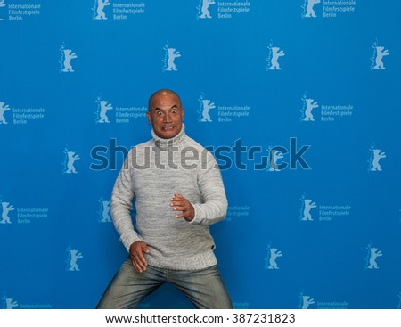 Berlin, Germany - February 13, 2016 - Actor Temuera Morrison attends the 'The Patriarch' (Mahana) photo call during the 66th Berlinale International Film Festival - stock photo