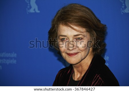 BERLIN, GERMANY - FEBRUARY 12: Actress Charlotte Rampling attends the 'I, Anna' Photocall during day four of the 62nd Berlin Film Festival at the Grand Hyatt on February 12, 2012 in Berlin, Germany - stock photo