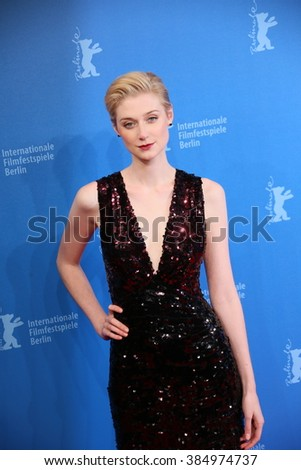 Berlin, Germany - February 18, 2016 -  Actress Elizabeth Debicki attends the 'The Night Manager' premiere during the 66th Berlinale International Film Festival - stock photo