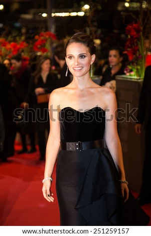 BERLIN, GERMANY - FEBRUARY 08: Actress Natalie Portman attends the 'Knight of Cups' premiere. 65th Berlinale International Film Festival at Berlinale Palace on February 8, 2015 in Berlin, Germany. - stock photo