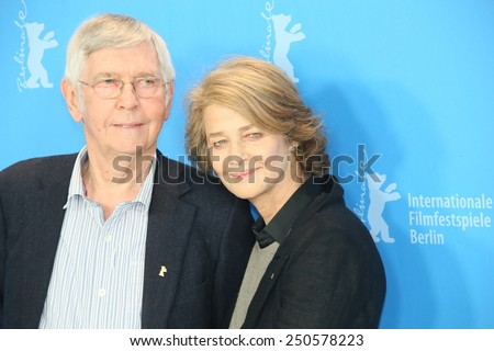 BERLIN, GERMANY - FEBRUARY 06: Charlotte Rampling attends the '45 Years' photocall during the 65th Berlinale International Film Festival at Grand Hyatt Hotel on February 6, 2015 in Berlin, Germany - stock photo