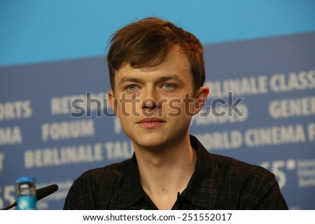 BERLIN, GERMANY - FEBRUARY 09: Dane DeHaan attends the 'Life' press conference during the 65th Berlinale Film Festival at Grand Hyatt Hotel on February 9, 2015 in Berlin, Germany. - stock photo