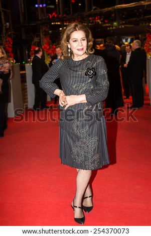 BERLIN, GERMANY - FEBRUARY 14: Hannelore Elsner attends the Closing Ceremony of the 65th Berlinale International Film Festival on February 14, 2015 in Berlin, Germany - stock photo
