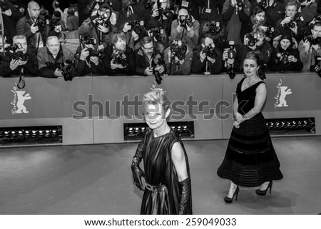 BERLIN, GERMANY - FEBRUARY 13: Helena Bonham Carter attends the 'Cinderella' premiere during the 65th Berlinale Film Festival at Berlinale Palace on February 13, 2015 in Berlin, Germany. - stock photo