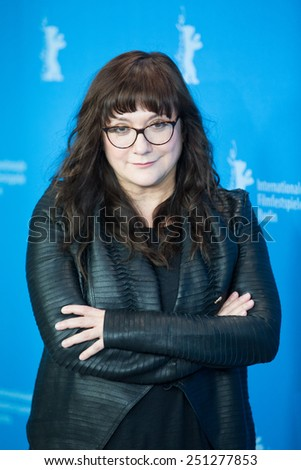 BERLIN, GERMANY - FEBRUARY 05:  Isabel Coixet  attend the 'Nobody Wants the Night', photo call. 65th Berlinale International Film Festival at Grand Hyatt Hotel on February 5, 2015 in Berlin, Germany. - stock photo