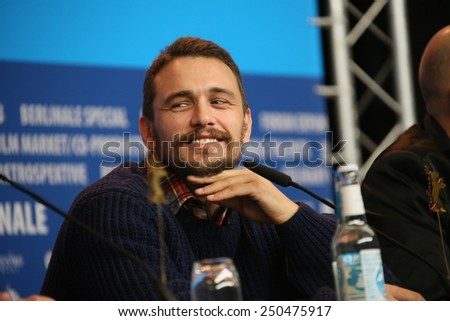 BERLIN, GERMANY - FEBRUARY 06:  James Franco attends the 'Queen of the Desert' press conference during the 65th Berlinale Film Festival at Grand Hyatt Hotel on February 6, 2015 in Berlin, Germany. - stock photo
