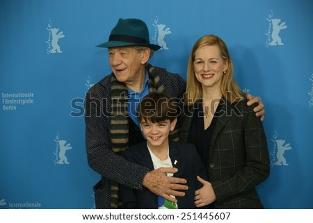 BERLIN, GERMANY - FEBRUARY 08: Laura Linney attends a photocal of the film 'Mr Holmes' presented in the competition of the 65th Film Festival Berlinale in Berlin, on February 8, 2015 - stock photo