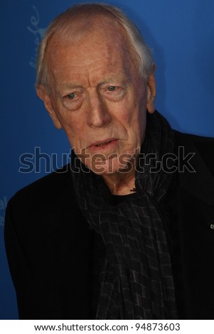 BERLIN, GERMANY - FEBRUARY 10: Max von Sydow attends the 'Extremely Loud And Incredibly Close' Photocall during day two of the 62 Berlin Festival at the Hyatt on February 10, 2012 in Berlin, Germany. - stock photo