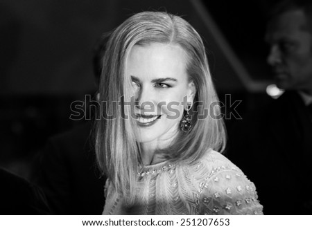 BERLIN, GERMANY - FEBRUARY 06: Nicole Kidman attend the 'Queen of the Desert' during the 65th Film Festival at Berlinale Palace,  February 6, 2015 in Berlin, Germany. - stock photo